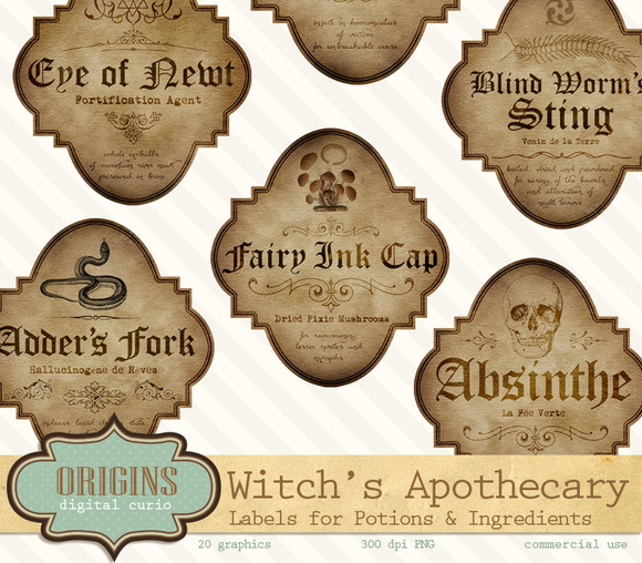 Halloween Apothecary Labels