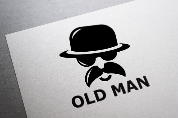 Old Man Logo Template