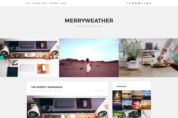 Merryweather Blogging Theme