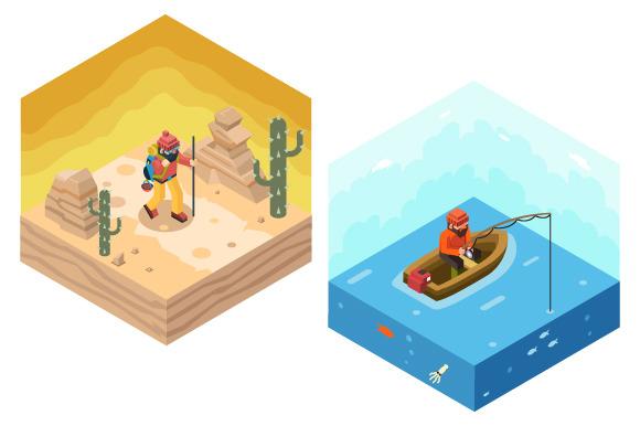 Backpacker Traveler Fisherman