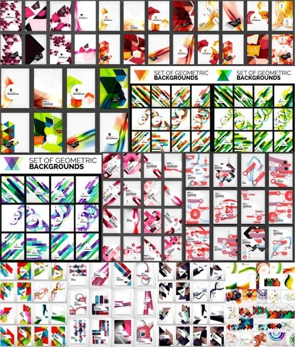 Geometric Brochure Designs Big Set