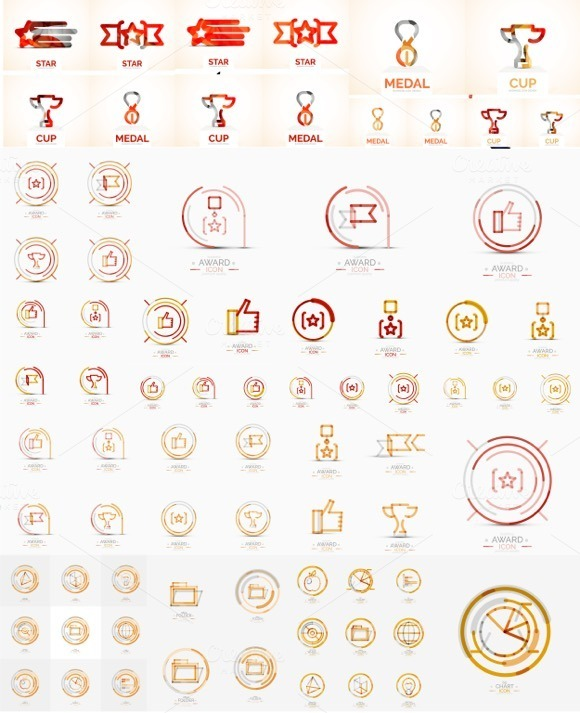 Universal Company Logos Set