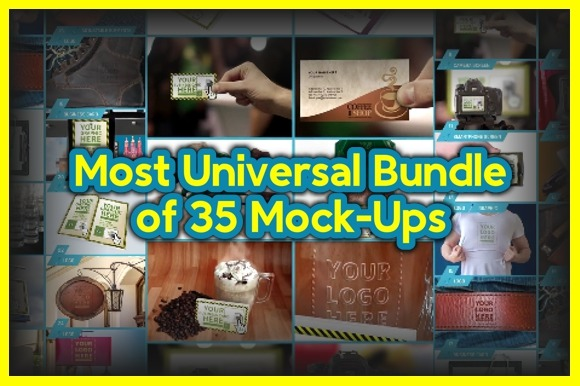 Most Universal Bundle Of 35 Mock-Ups