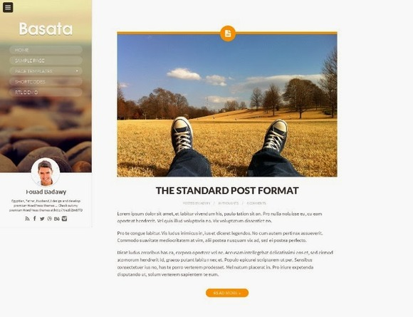 Basata Responsive WordPress Theme