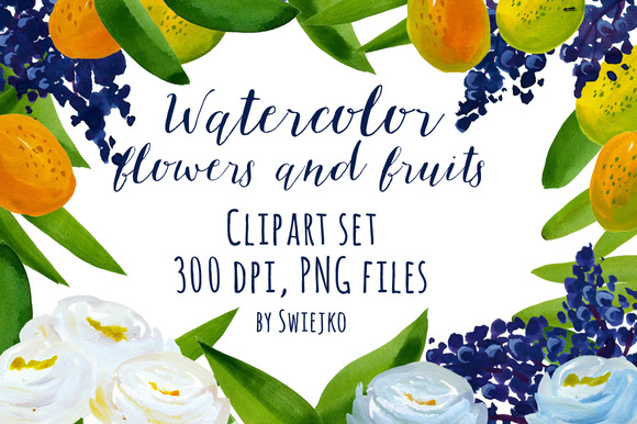 Watercolor Tropical Set