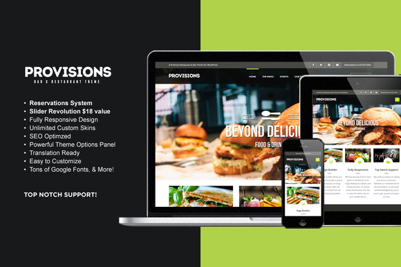 WP Provisions Restaurant Bar Theme