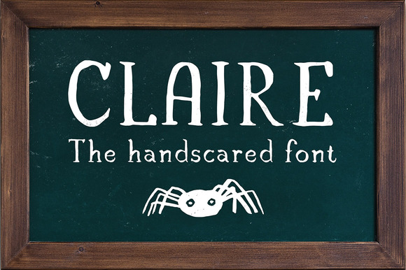 Claire Serif Font Illustrations