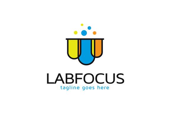 Lab Focus Logo Template Design