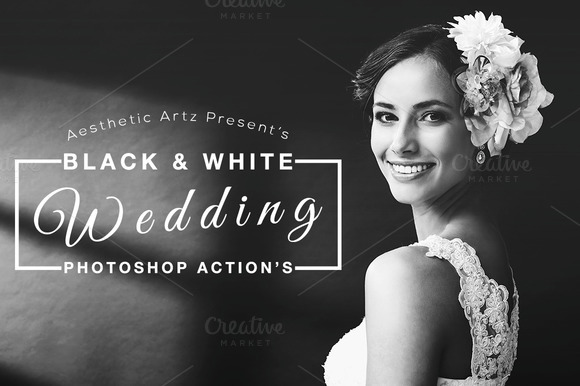 Black White Wedding Actions