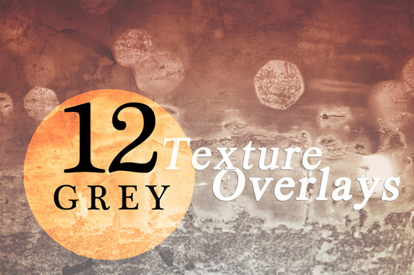 12 Grey Texture Overlays
