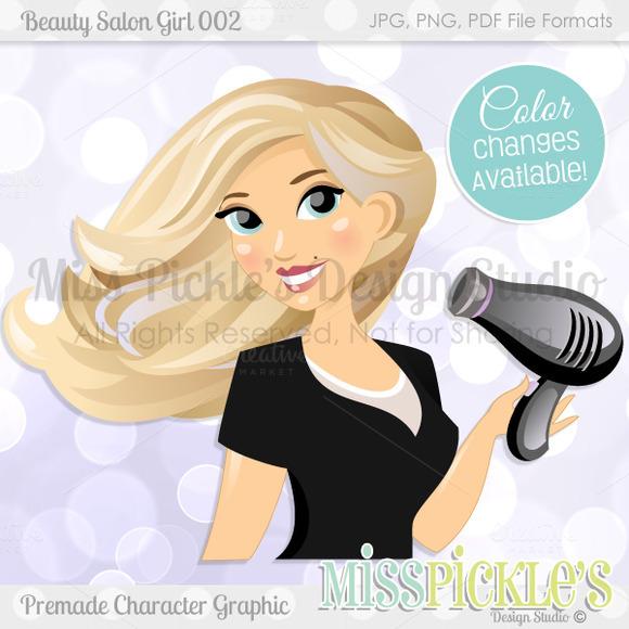 Beauty Salon Girl 002- Character