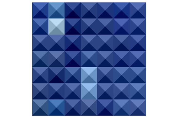 Cobalt Blue Abstract Low Polygon Bac