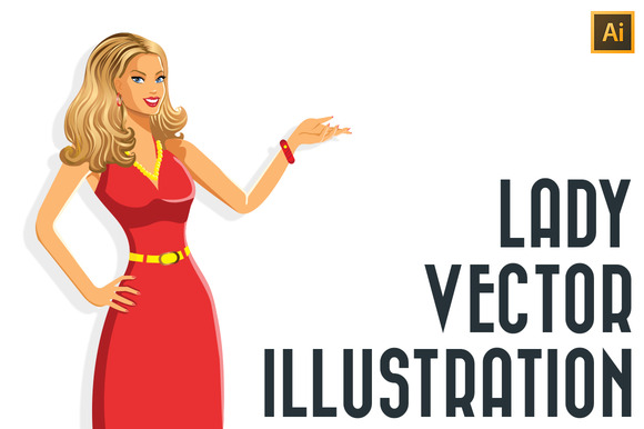 Lady Vector Illustration