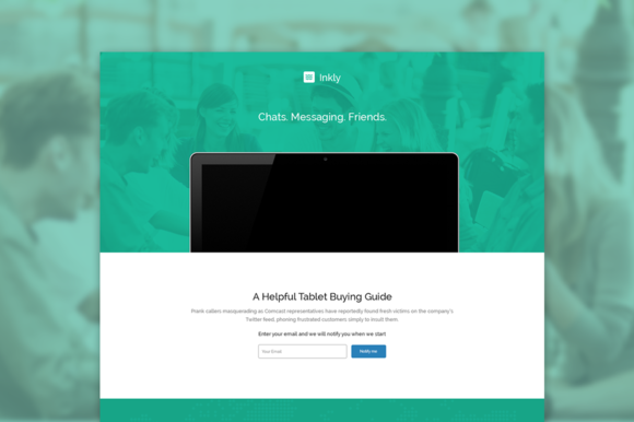 Inkly PSD Template