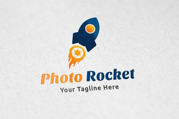 Photo Rocket Logo Template