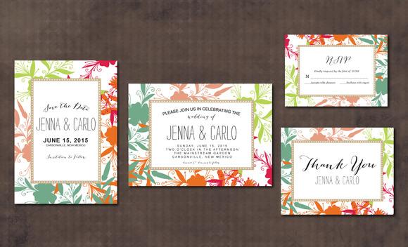 Wedding Invitation Suite Flowers