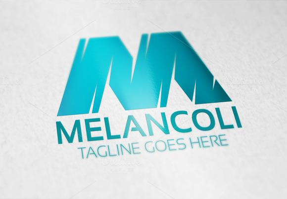 Melancoli M Letter Logo