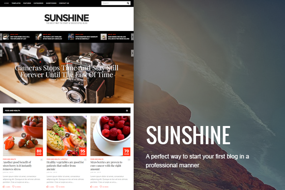 Sunshine Premium Magazine Theme