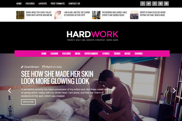 HardWork Magazine And Personal Theme