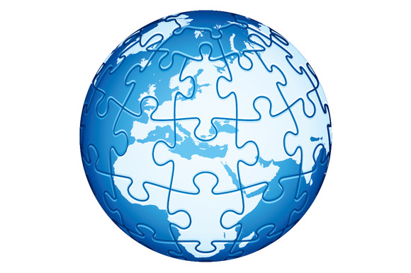 Jigsaw Puzzle Globe Europe Africa