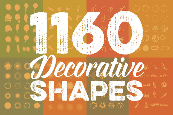 Megabundle 1160 Decorative Shapes