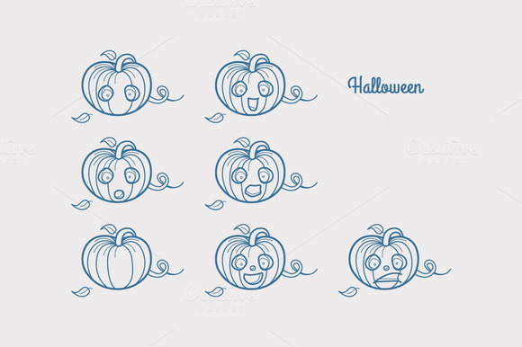 Halloween Emotions Characters