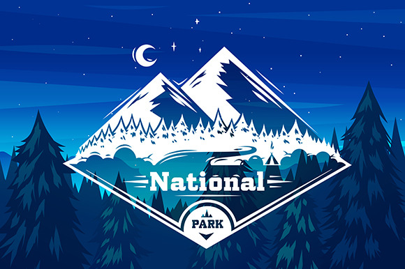 National Park Typography Design