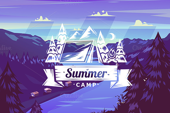 Summer Camp Typography Design