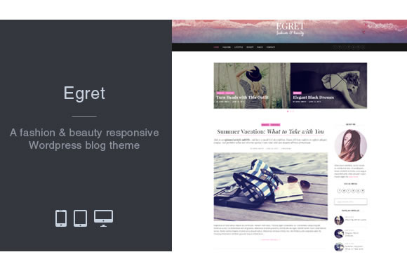 Egret Fashion Wordpress Blog Theme