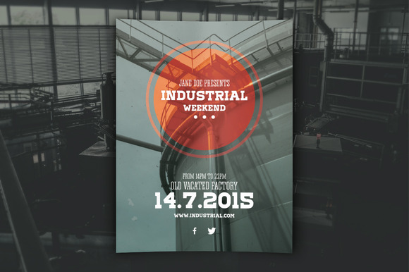 Industrial Flyer PSD Template