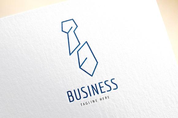 Tie Vector Logo Icon Business Bank