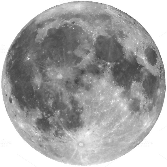 Full Moon Isolated Transparent PNG