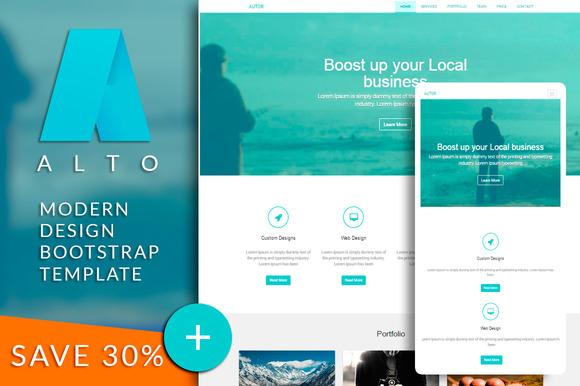 ALTO Bootstrap Html Template