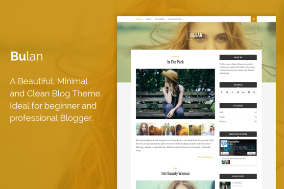 Bulan WordPress Blog Theme