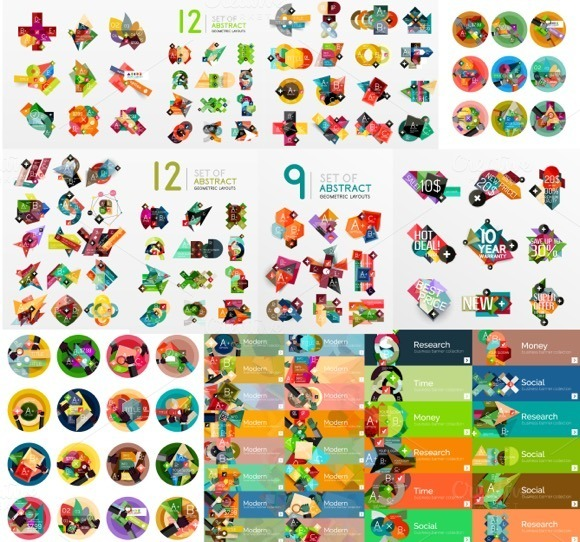 Mega Set Of Flat Infographics