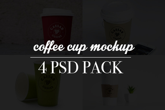 Realistic Coffee Cup Mockups