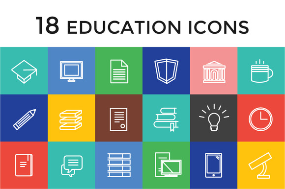 Education Vector Icons Set Science