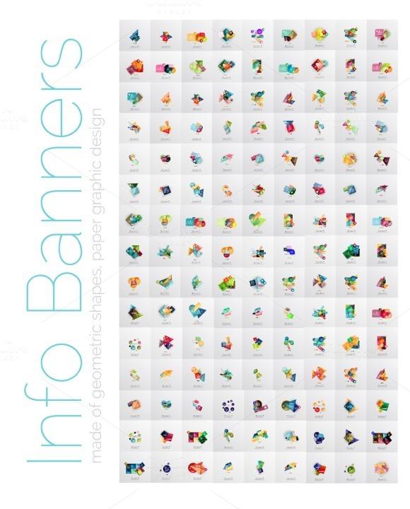 135 Geometric Info Banners