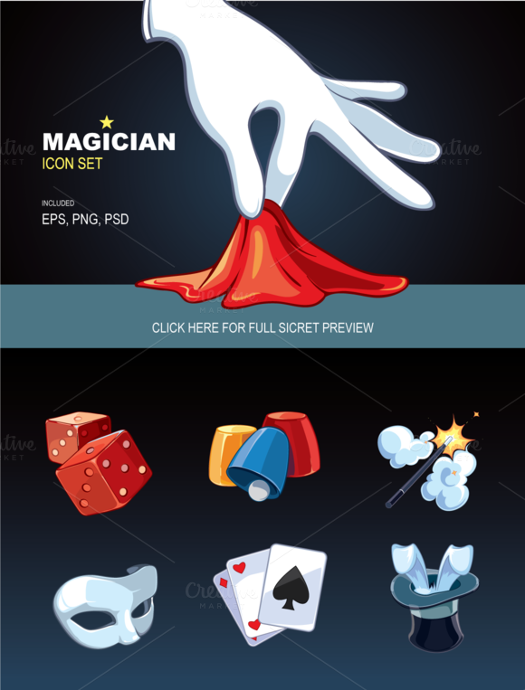 Magician Icon Set