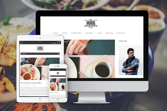 Hugo Stylish Wordpress Blog Theme