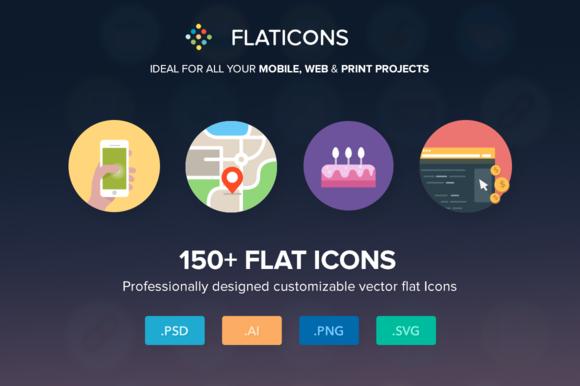 155 Flat Icons