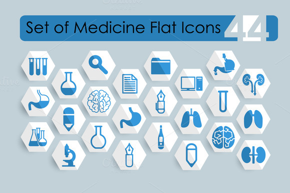44 Medical Flat Icons