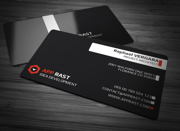 Black Colors Business Card