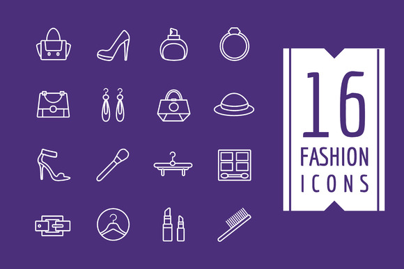 Fashion E-commerce Vector Icons Set