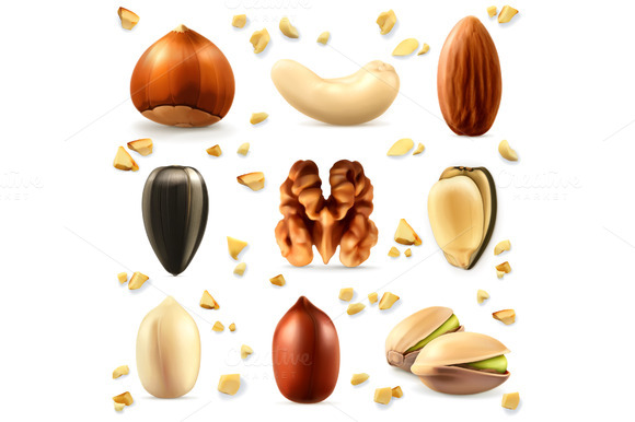Nuts Vector Icons