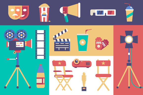 Movie Vector Set