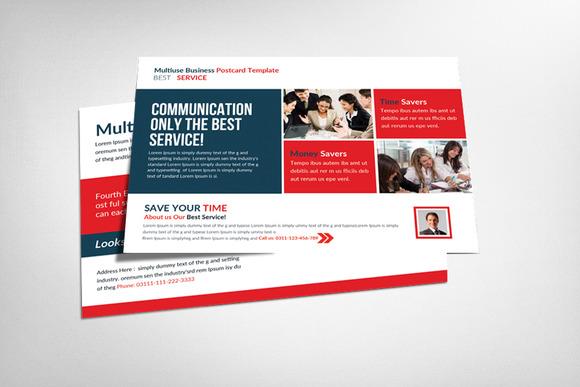 Multiuse Business Postcard Template
