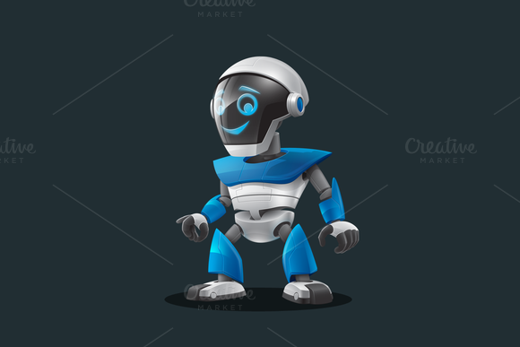 Robot Vector Cartoon Character
