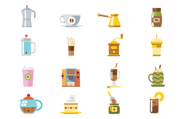 Appliances To Make Coffee Icons