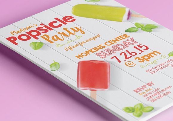 Summer Popsicle Party Flyer